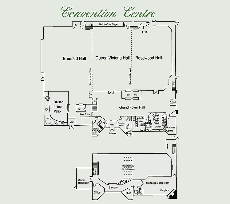Video virtual tour floor plan burlington oakville for Banquet hall floor plan